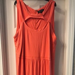 Maxi dress with strap detailed neck